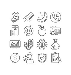 Coins money currency and cashback icons vector