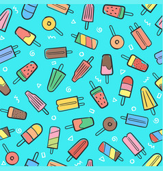 Cute seamless summer pattern with variety fruit vector