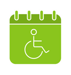 Disability day glyph color icon vector