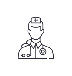 doctor line icon concept doctor linear vector image