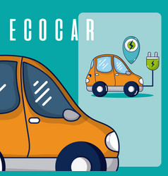 electric car vehicle vector image