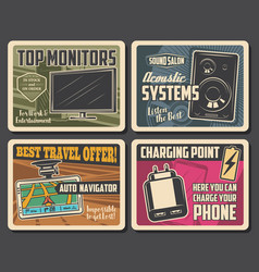 Electronic devices digital appliances posters vector