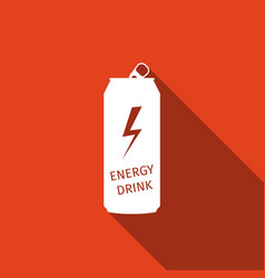 energy drink flat icon with long shadow vector image