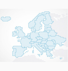 europe continent with separated states vector image