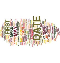 first date chemistry text background word cloud vector image