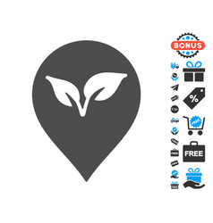 flora plant marker icon with free bonus vector image