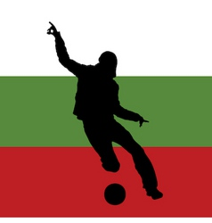 football player with Bulgarian flag vector image