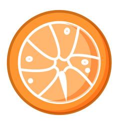fresh tangerines half cut vector image