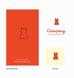girls skirt company logo app icon and splash page vector image