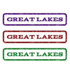 Great lakes watermark stamp vector
