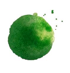 Green blot vector