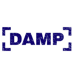 Grunge textured damp stamp seal inside corners vector