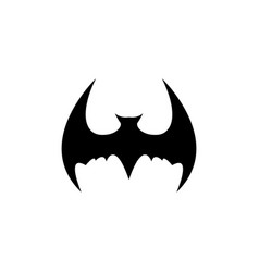 halloween black bat animal icon or sign vector image