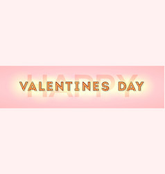 happy valentines day card letters with vector image