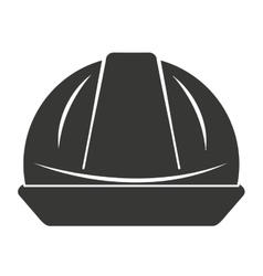 Helmet worker security icon vector
