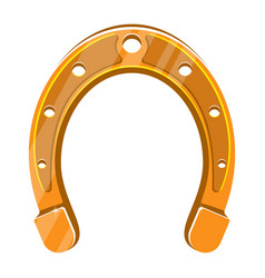 horseshoe vintage color engraving vector image