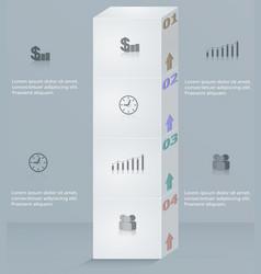 infographics template business step success column vector image