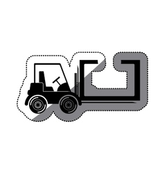 Isolated delivery forklift design vector