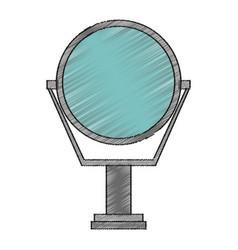 Isolated mirror design vector