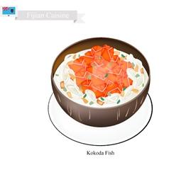 Kokoda Fish or Fijian Raw Fish in Coconut Milk vector