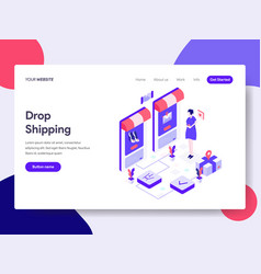 landing page template of drop shipping concept vector image