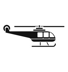 lifeguard helicopter icon simple style vector image