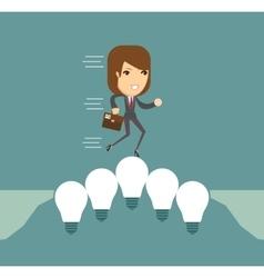 Lightbulbs bridge vector