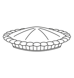 Line art black and white thanksgiving pot pie vector