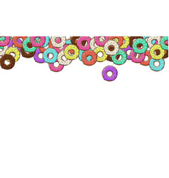 Lots of donuts with colorful vector