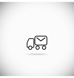 Mail track vector