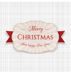 Merry christmas greeting label vector