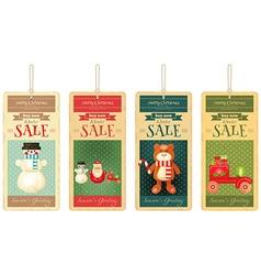 Merry Christmas Sale Tags vector