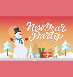 new year party - modern cartoon characters vector image