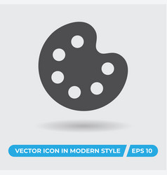 paint palette icon simple sign for web site and vector image