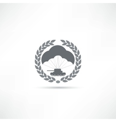 Parachute icon vector