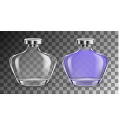 Perfume glass bottle set vector