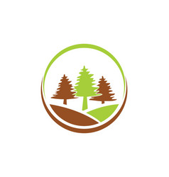 Pine tree icon logo vector