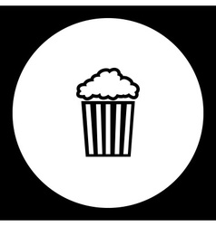Popcorn in striped box typical cinema food vector