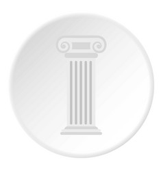 roman column icon circle vector image