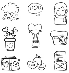 Romance doodles hand draw vector