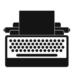 round button typewriter icon simple style vector image