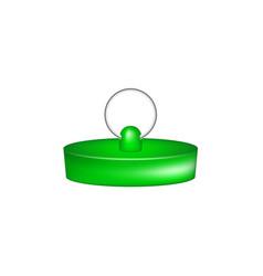 rubber plug in green design vector image vector image