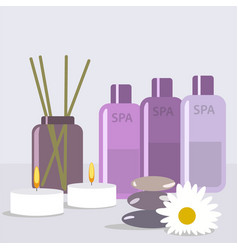 Set for spa treatments with vector
