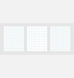 Set mathematics square paper in various sizes vector