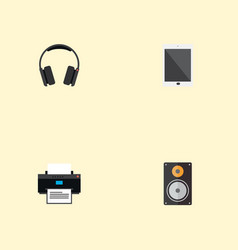 Set of computer icons flat style symbols with vector