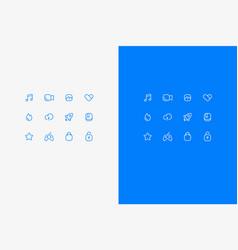 Set of icons about office vector