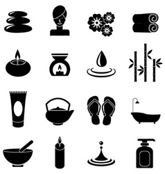 Spa icons set vector image