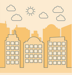 summer sunny cityscape creative style vector image