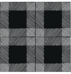 tartan seamless pattern black white checkered vector image
