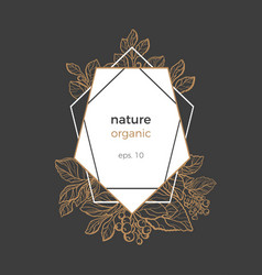 template nature frame geometric vector image